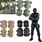 4 Knee Elbow Protective Pad Protector Gear Sports Tactical Airsoft Combat Skate image