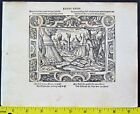 2 Virgil Solis Woodcuts,ca.1565,Golden Calf,Moses'Wrath,Executing Heretics