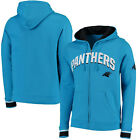 Carolina Panthers Men's Majestic Anchor Point Full Zip Hooded Sweatshirt $55.99 USD on eBay