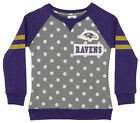 OuterStuff NFL Youth Girls Team Logo Polka Dot Print Crew, Baltimore Ravens $17.5 USD on eBay