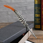 Metal Vintage Peacock Fashion Movie Feather Dip Pen Dip Fountain Caligraphy Pen