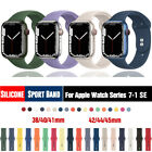 38/42/40/44mm Silicone Sports Band iWatch Strap for Apple Watch Series 5 4 3 2 1 image