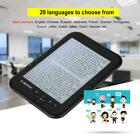 eBook Reader E-ink 6 inch 800x600 HD 16GB With FM Radio Recording Clock Calendar