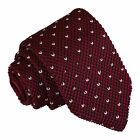 Handmade Unisex Knitted Tie Top Quality Wedding Patterned Stripe Formal Casual