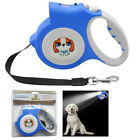 5M Dog Leash With Light Flashlight Extending Puppy Walking Leads of Retractable