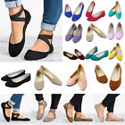 Women Flat Ballerina Pumps Loafers Ballet Dolly Bridal Shoes Casual Sandals Size