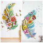 Flower Feather Removable Wall Sticker Art Pvc Decal Mural Home Bedroom Decor Us