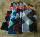 LADIES ARGYLE SOCKS KNEE HIGH DIFFERENT COLORS TO CHOOSE FROM 9-11