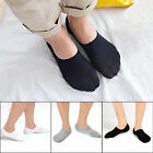4 Pairs Mens Invisible Nonslip Boat Loafer Ankle Socks Low Cut Soft Cotton Socks