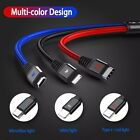 LED USB Type C Fast Charging Cable For Samsung Galaxy S8 S9 S10 Plus Note 8 9 10