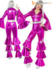 Ladies 1970s Super Trooper Mamma Mia Costume Disco Lady Fancy Dress 70s Jumpsuit