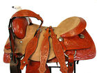 DEEP SEAT 16 17 ROPING SADDLE WESTERN HORSE FLORAL TOOLED LEATHER TRAIL TACK SET