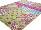 MEDIUM - EXTRA LARGE PINK GREEN CHIC NOVELTY RUG - CLEARANCE LTD STOCK