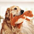 Tough Dinosaur Pet Dogs Puppy Chew Knot Play Squeaker Squeaky Plush Sound Toy CS