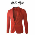US STOCK Men's Suit Coat Regular Serge Blazer Button Business Casual Jacket
