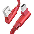 Micro USB 90Degree Elbow Data Sync Phone Cable Fast Charging Charger For Android