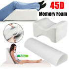 Comfort Contour 45d Memory Foam Pillow Leg Firm Back Knee Lumbar Support + Cover