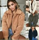 Women Fluffy Coat Fleece Fur Jackets Teddy Bear Winter Warm Outerwear Hoodies