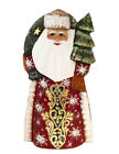 Santa Claus Figurine Wooden Russian Hand Painted Father Frost Christmas Decor 7""