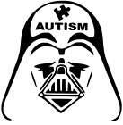 Autism Star Wars Darth Vader Helmet Empire Sticker Vinyl Decal Car Window laptop