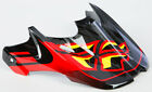 FLY RACING KINETIC PRO SHORTY HELMET VISOR (BLACK/RED/LIME) 73-3280
