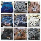 3D Animal Effect Printed Duvet Cover set with Pillow Cases Quilt Bedding Set UK