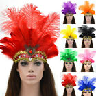 Boho Indian Feather Headband Headdress Carnival Headpiece Masquerade Party US