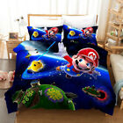 3D Super Mario Galaxy Kids Bedding Set Duvet Cover Pilliw Shams Comforter Cover