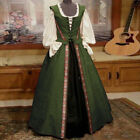 Womens Dress Ladies Costume Lace Dress Gothic Cosplay Medieval Maxi Slim