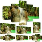 Canvas Picture Canvas Print Mural Small Waterfall in the Forest No 2317