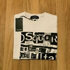 Men's DSQUARED2 Collage Sweatshirt, Pullover in White, Crew Neck, See Sizes
