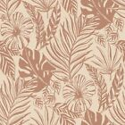 Rose Gold Wallpaper Grey Cream Exotic Flowers Tropical Palm Leaves Geometric