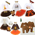 Newborn Baby Girl Thanksgiving Romper Skirts Outfits Party Lace Tulle Tutu Dress