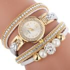 Women's Watch Lady Crystal Alloy Analog Quartz Bracelet Dress Wrist Watches Gift image