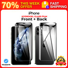 For iPhone 11 Pro Max Front+Back 2 PCS 360° Screen Protector Hydrogel Glass Film