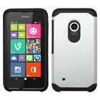 For Nokia Lumia 530 2-Piece Slim Armor Hard Soft Case Cover