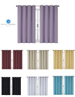 100% Thermal Blackout Bath & Kitchen Window Curtains - Assorted Colors & Sizes