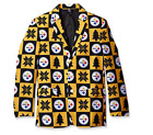 FOCO NFL Men's Pittsburgh Steelers Patches Ugly Business Jacket, Yellow $44.5 USD on eBay
