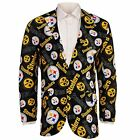 Forever Collectables NFL Men's Pittsburgh Steelers Ugly Business Jacket, Black $44.5 USD on eBay