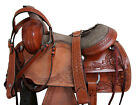 WESTERN GAITED SADDLE HORSE TRAIL RIDE FLORAL TOOLED LEATHER PLEASURE TACK 15 16