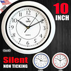 CAMY Wall Clock, 10 Inch Silent Non Ticking - Quartz Battery Operated
