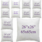 White Square Throw Pillow Cushion Sofa Waist Pillowcase Filler Inner Pads Insert