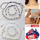 Adjustable Handmake Natural Sea Shell Necklace Bracelet Anklet Rope Choker Beach