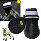 Waterproof Medium Large Dog Shoes Non Slip Reflective Snow Boots Booties Size4-8