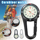 White Clip on Carabiner FOB Watch Luminous Face for Doctors Nurses Paramedics US image
