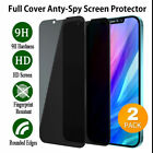 For Apple iPhone 11 Pro Max Full Cover Privacy Anti-Spy Glass Screen Protector $7.95 USD on eBay