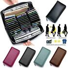 RFID Blocking Mens/Womens Leather Large Capacity Credit ID Card Holder Wallet image