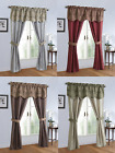 Complete 5 Pc. Sheer Window in a Bag Curtain & Valance Set - Assorted Colors