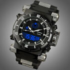INFANTRY Mens Digital Quartz Wrist Watches Chronograph Date Sport Rubber Black image