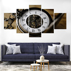 Clock Pocket Watch Canvas Print Painting Frame Home Decor Wall Art Picture Poste